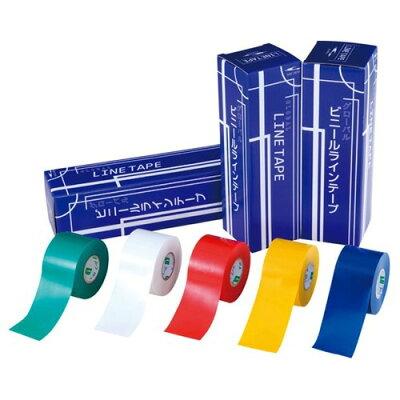 グローバル ビニール・ラインテープ 40mm 黄(6巻)