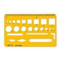ウチダ テンプレート カードサイズ定規 78