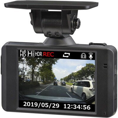 コムテック ドライブレコーダー HDR103 一体型 /Full HD(200万画素)