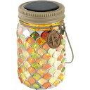 キシマ ボトル型ソーラーガーデンライト エトワル/ETOILE 瓶型 モザイクガラスタイプ シトラスナッツ/CitrusNut 屋外用 ソーラー充電 KL-10354
