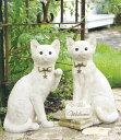 キシマ フォーチュンアニマルズ ガーデンオーナメント L Cat ネコ 2匹セット KH-61031