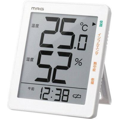 マグ デジタル温度湿度計 TH-105 WH(1台)