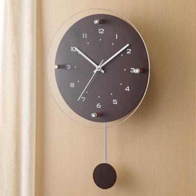電波振り子時計 アンティール W-473 BR(1台)