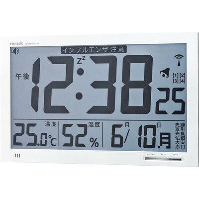 環境注意機能付き大型電波時計 エアサーチメルスター W-602 WH(1台)