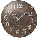 ノアセイミツ置き掛け兼用時計 パドメラミニ オールド W-614-BR ブラウン W614BR