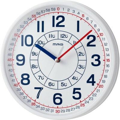 マグ 知育時計 よ~める W-736 WH-Z(1台)