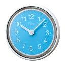 防滴 スリムバスクロック ミニバブル FEA73-BL ブルー