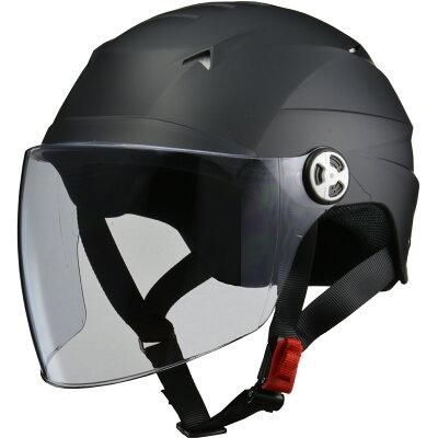 LEAD SERIO RE-41 開閉シールド付きハーフヘルメット マットブラック 4040bt