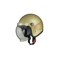 LEAD:リード工業MOUSSEスモールジェットヘルメット 70sゴールド