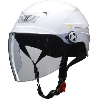 LEAD工業 リード工業 ジェットヘルメット ZORK 開閉シールド付きハーフヘルメット