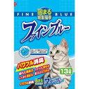 常陸化工 色が変わる紙製猫砂 ファインブルー 13L