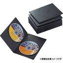 エレコム DVDトールケース 2枚収納 スリムタイプ 10枚セット ブラック CCD-DVDS06BK