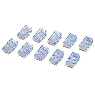 ELECOM CAT6用RJコネクタ(10個セット
