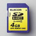 ELECOM SDHCメモリカード MF-FSDH04G