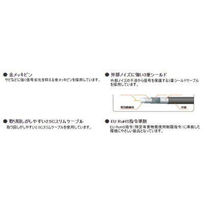 ELECOM アンテナケーブル AV-ATSS100BK