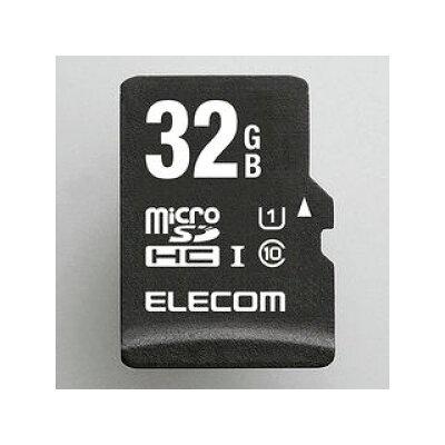 ELECOM microSDHCカード/ ネットワークカメラ用/ UHS-I U1/ Class10/ 32GB MF-AMR032GU11/H