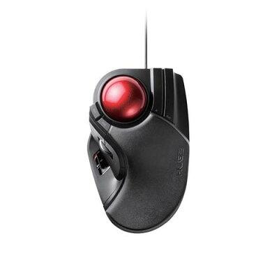 エレコム トラックボールマウス 有線 人差し指 中指操作 8ボタン M-HT1URBK(1個入)