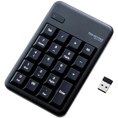 エレコム 2.4GHzワイヤレステンキーパッド ブラック TK-TDM017BK