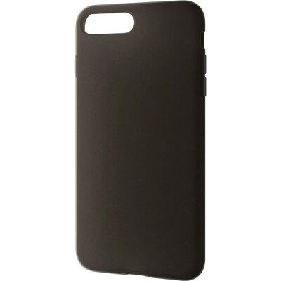 エレコム iPhone8Plus シリコンケース ブラックPM-A17LSCBK(1コ入)