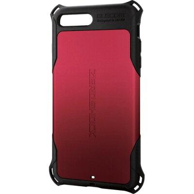 エレコム iPhone8Plus ZEROSHOCK レッドPM-A17LZERORD(1コ入)
