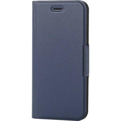 エレコム iPhone8用ソフトレザーカバー/磁石付 ネイビー PM-A17MPLFUNV(1コ入)