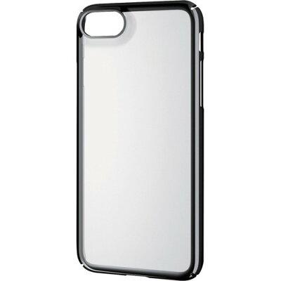 エレコム iPhone8用シェルカバー/極み/サイドメッキ ブラック PM-A17MPVKMBK(1コ入)