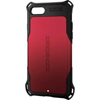 エレコム iPhone8用ゼロショック/スタンダード レッド PM-A17MZERORD(1コ入)