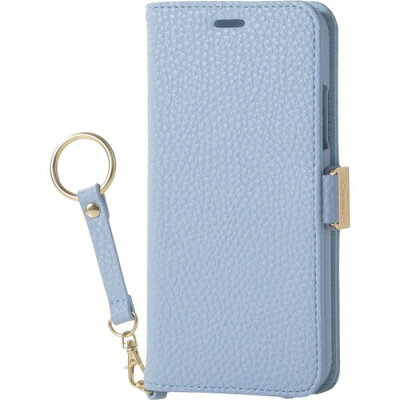 エレコム iPhoneX ソフトレザーカバー 磁石 ストラップブルーPM-A17XPLFJBU(1コ入)
