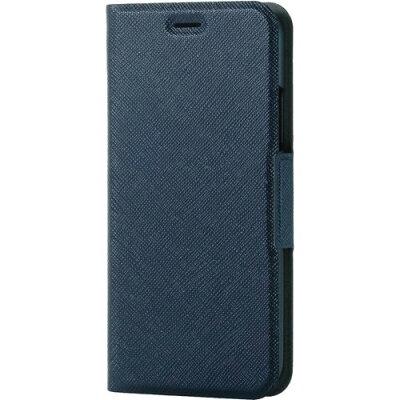 エレコム iPhoneX ソフトレザーカバー 磁石イタリアン ネイビーPM-A17XPLFUILNV(1コ入)