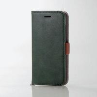 エレコム iPhone8用ソフトレザーカバー/磁石付 モスグリーン PM-A17MPLFYGN(1コ入)