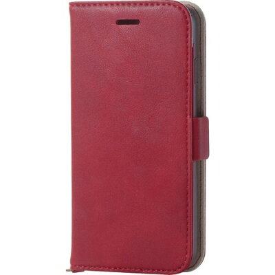 エレコム iPhone8用ソフトレザーカバー/磁石付 レッド PM-A17MPLFYRD(1コ入)