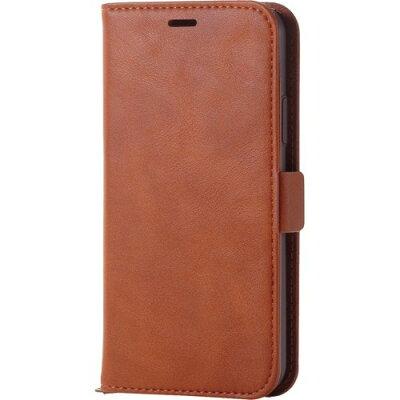 エレコム iPhoneX ソフトレザーカバー 磁石付 ブラウンPM-A17XPLFYBR(1コ入)
