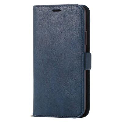 エレコム iPhoneX ソフトレザーカバー 磁石付 ネイビーPM-A17XPLFYNV(1コ入)