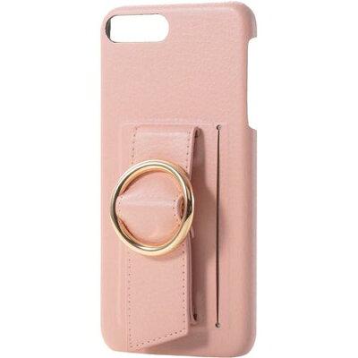 エレコム iPhone8Plus ソフトレザーカバー バックルバンドPM-A17LPLOB2PN(1コ入)