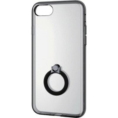 エレコム iPhone8用ハイブリッドケース/ハイブリッドリング付 ブラック PM-A17MHVCRBK(1コ入)