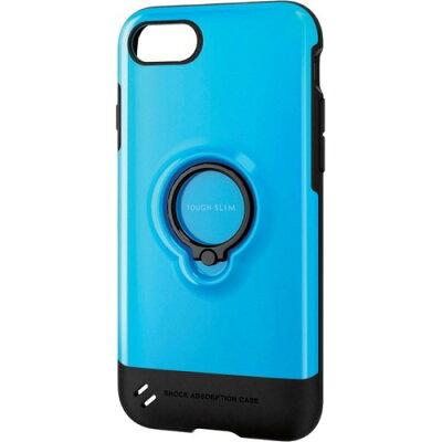 エレコム iPhone8用タフスリム/リング付 ブルー PM-A17MTSRBU(1コ入)