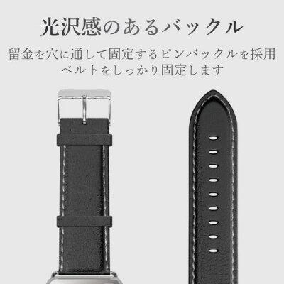 エレコム Apple Watch 38mm/ソフトレザーバンド/ラウンドボートタイプ/ブラック AW-38BDLRBBK