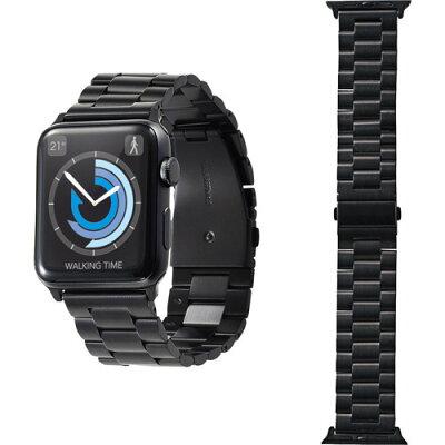 エレコム Apple Watch 42mm/ステンレスバンド/3連タイプ/ブラック AW-42BDSS3BK