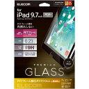 9.7インチ iPad 保護フィルム ガラス フレーム付 高光沢 ブラック TB-A18RFLGFBK(1コ入)