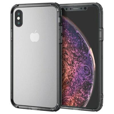 iPhone XS ハイブリッドバンパー/ブラック(1個)