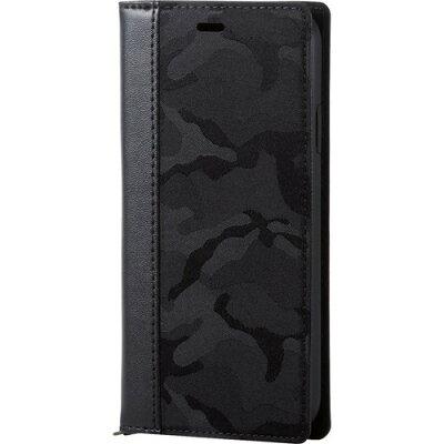 エレコム iPhone XR ソフトレザーカバー vLunoブラック カモフラ ブラック(1コ入)