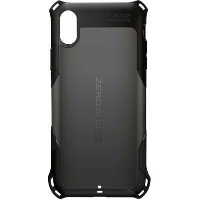 エレコム iPhone XR ZEROSHOCK スタンダード ブラック(1コ入)