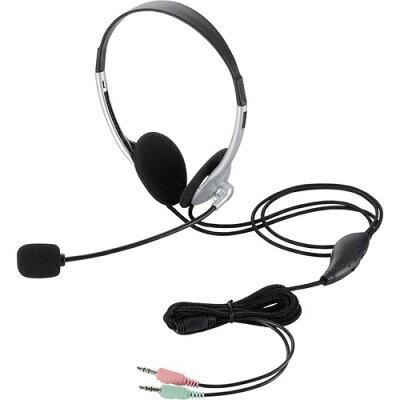 ELECOM ヘッドセット 両耳小型オーバーヘッドタイプ  HS-HP22SV
