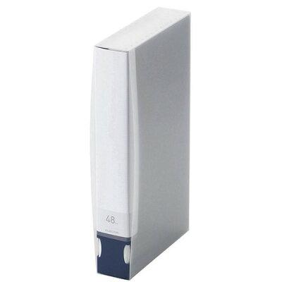 エレコム BLu-ray/DVD/CD用ディスクファイル 48枚収納 CCD-FB48BU(1コ入)
