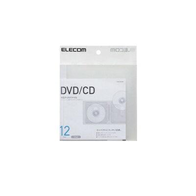 エレコム DVD/CD用ディスクファイル 12枚収納 CCD-FS12CR(1コ入)