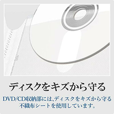 エレコム DVD/CD用ディスクファイル 120枚収納 CCD-FS120CR(1コ入)