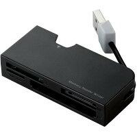 ELECOM ケーブル収納タイプメモリリーダライタ MR-K013BK