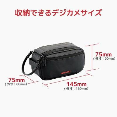 ELECOM デジタルビデオカメラケース/ ZEROSHOCK/ Mサイズ/ ブラック ZSB-DV008BK