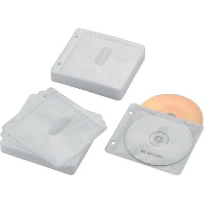 エレコム ブルーレイ・CD・DVD対応不織布ケース ホワイト CCD-NBWB120WH(1パック)