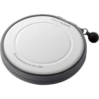 エレコム CD/DVDファスナーケース CCD-H12WH(1コ入)